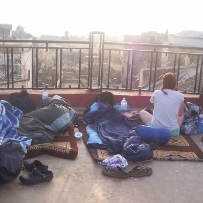 sleeping on the roof in Fez, Morocco