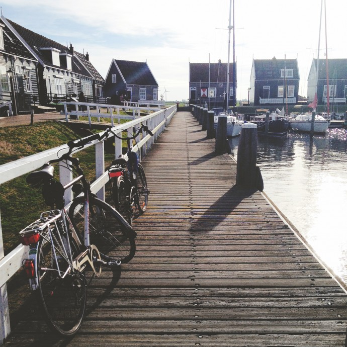 cycle to Marken Harbour from Amsterdam bike trip